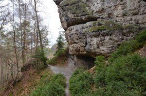 Goldsteig - schmaler Bergpfad
