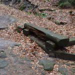 altehrwürdige Holzbank