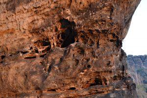 Felsstruktur im Abendlicht