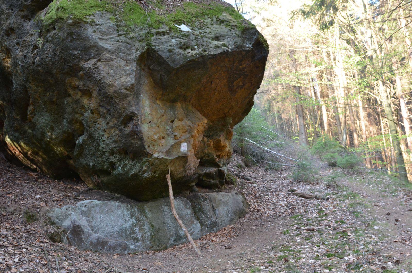 Alte Wegemarkierung überm Kirnitzschtal