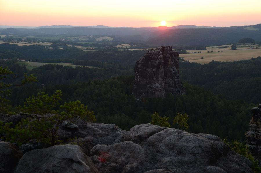 Sonnenuntergang Falkenstein