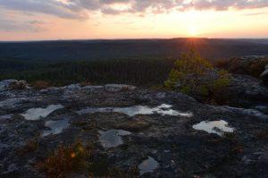 Sunset überm Wald