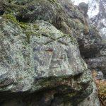 altes Forstzeichen am Silberwandsteig
