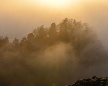 Poblatzschwände im Nebel
