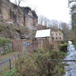 Barrikade unterhalb der Lochmühle
