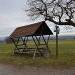 Schutzhütte am Rande des Cottaer Buschs