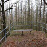 Aussichtslose Aussicht hinter der Gersdorfer Ruine